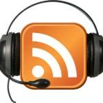 Podcast icon with earphones around it