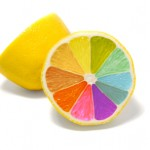 Lemon with different coloured segments - bespoke/tailored courses