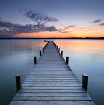 Tranquil scene of sunset from jetty