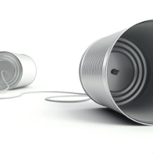 Assertiveness at work - Communication cans connected by string