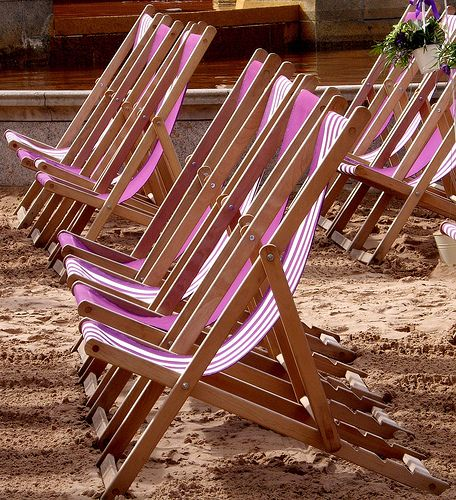 Summer deckchairs