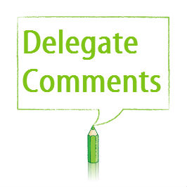 Assertive communication – Delegate comments
