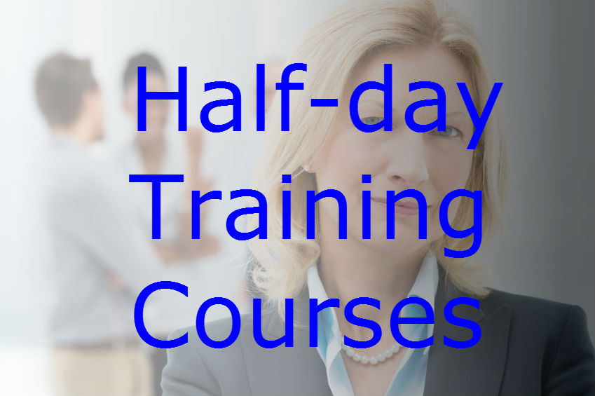 Half-day training courses