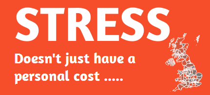 Stress: Business Cost and Solutions Infographic