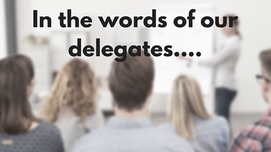Our delegates words
