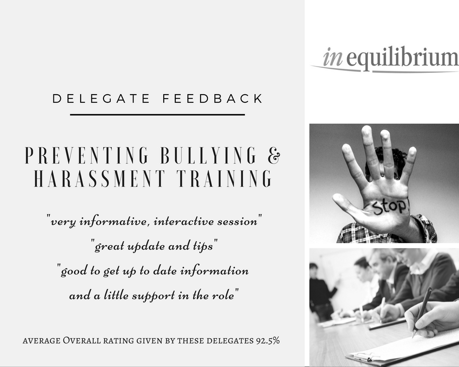 bullying-harassment-delegate-feedback-from-last-weeks-course