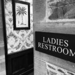 The entrance to a ladies restroom