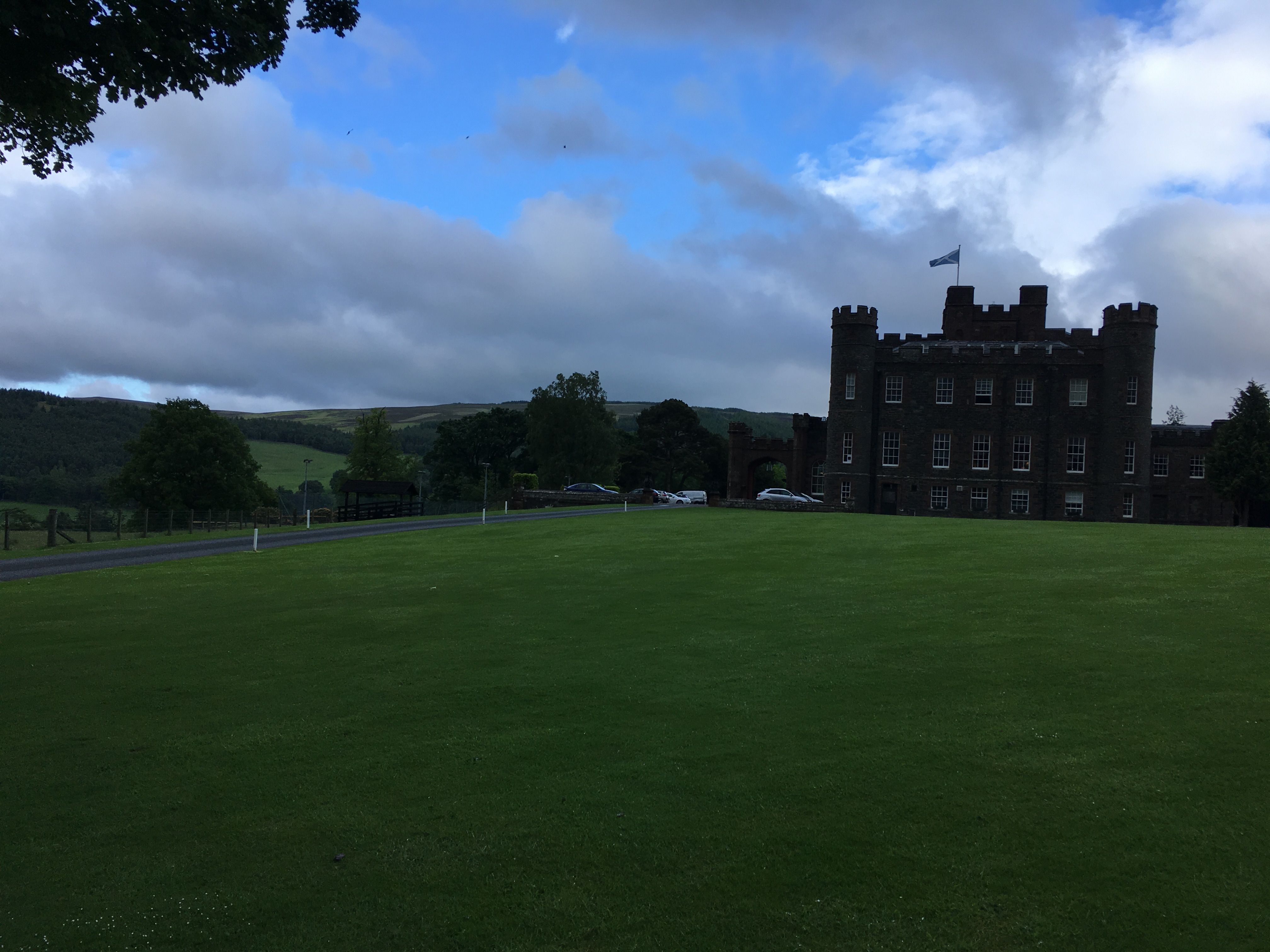 View of Stobo Health Spa from down the drive