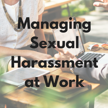 Managing Sexual Harassment at Work – training course now available
