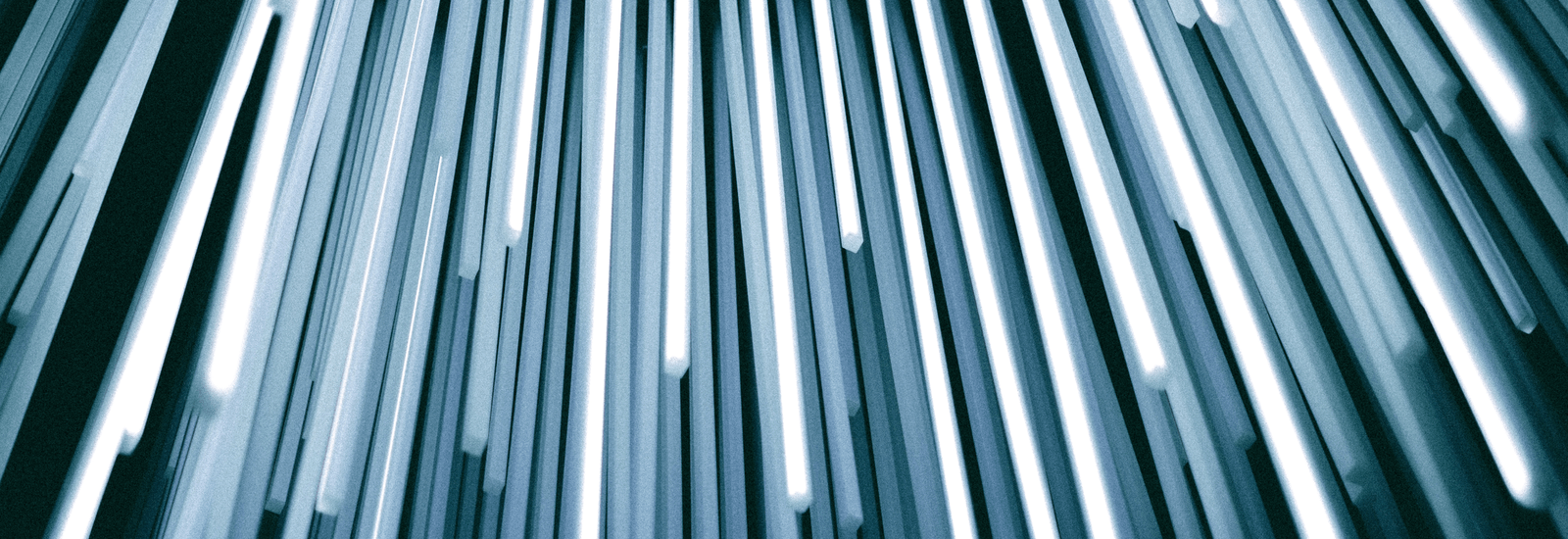 abstract image blue poles