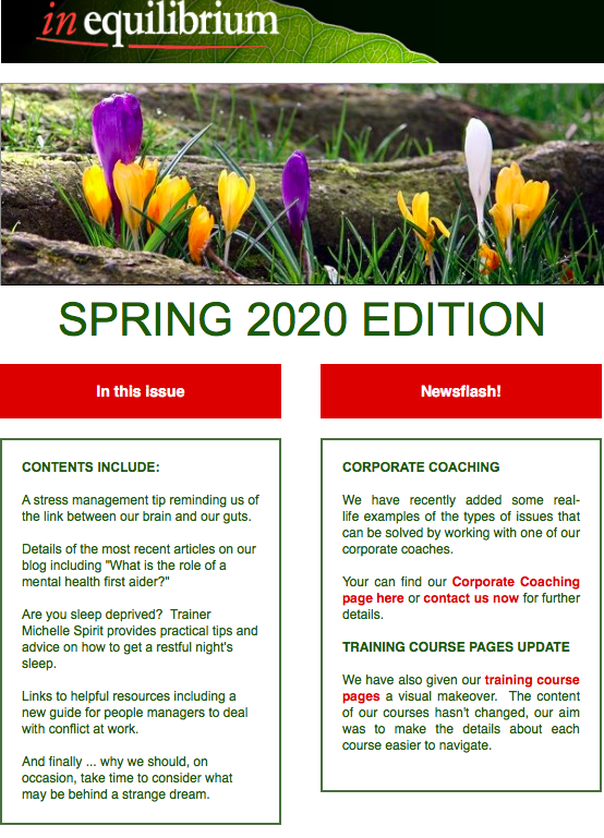 Quarterly Newsletter Screen Shot