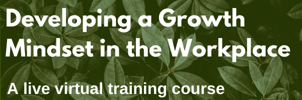 Developing a Growth Mindset in the Workplace – A short, virtual, live course