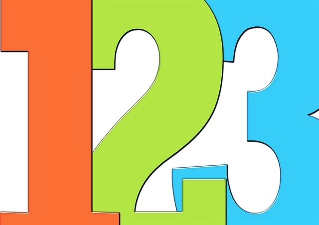 Three resilience tips image with big bright numerals, one in orange, two in green and three in blue