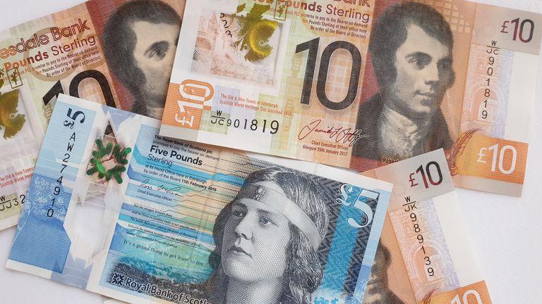 scottish bank note