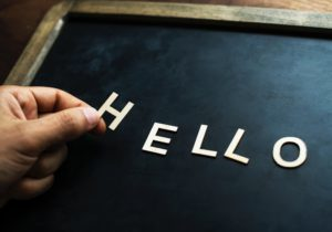 Placing the word Hello on a pin board